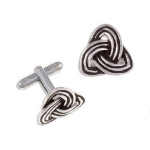 Celtic Trefoil Knot T-bar Cufflinks